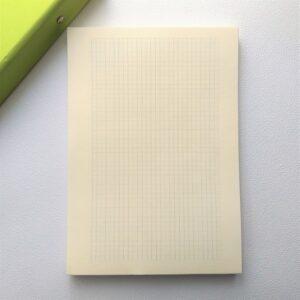 Блок бумаги для планера А5, цвет кремовый, клетка.