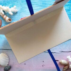 Денежный подарочный конверт для моряка.