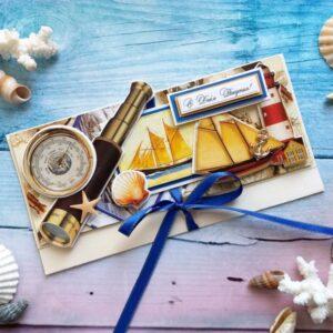 Морской денежный конверт ко Дню рождения.