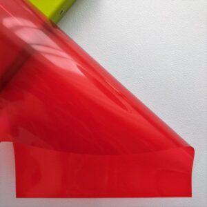 Разделительный лист PVC, прозрачный красный, 21*29,7 см, 180 мм.