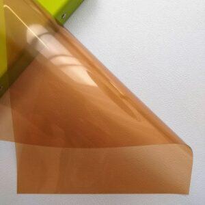 Разделительный лист PVC, прозрачный шоколадный, 21*29,7 см, 180 мм.