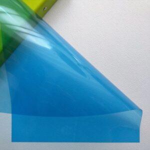 Разделительный лист PVC, прозрачный синий, 21*29,7 см, 180 мм.