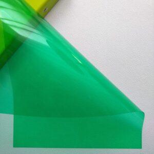 Разделительный лист PVC, прозрачный зеленый, 21*29,7 см, 180 мм.
