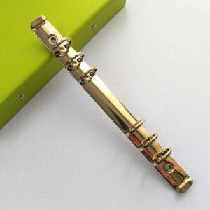 Золотой кольцевой механизм А5 на 6 колец, 22,5*2,5 см.