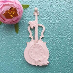 Скрипка с циферблатом, гибкая, 4,5*9,5 см.
