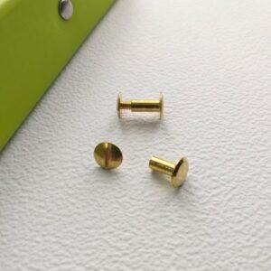Винт золото, 9 мм, пара.